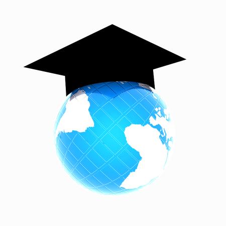 Global Education on a white background Reklamní fotografie