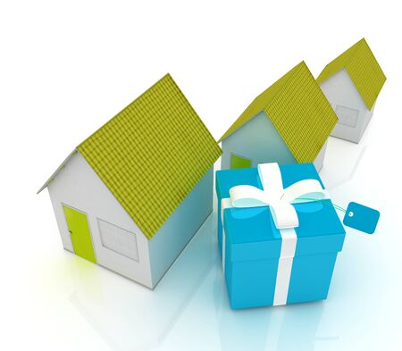 majority: Houses and gift  Stock Photo