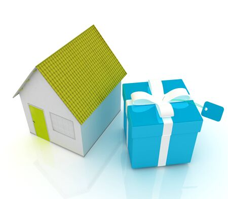 Houses and gift  photo