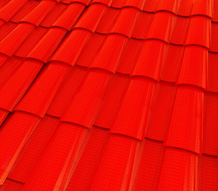 3d red roof tiles photo