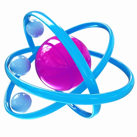 3d atom isolated on white background  photo
