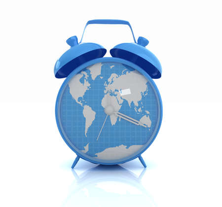 Alarm clock of world map and alarm clocks the film strip stock 27350424 clock of world map gumiabroncs Image collections
