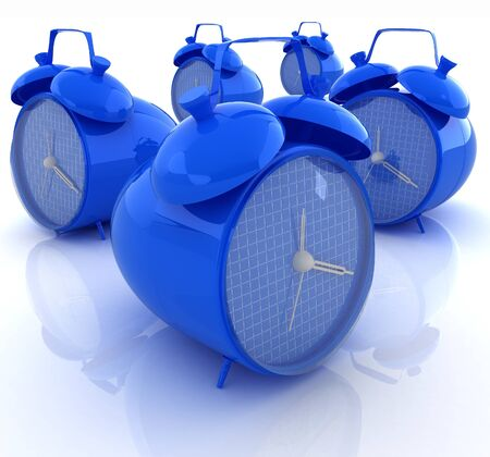 alarm clock 3d illustration isolated on white  illustration