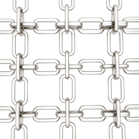 Metall chains isolated on white background photo