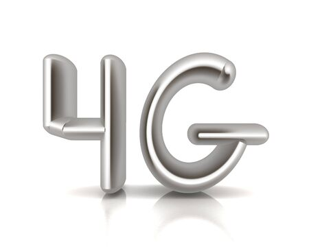 4g modern internet network. 3d text  photo