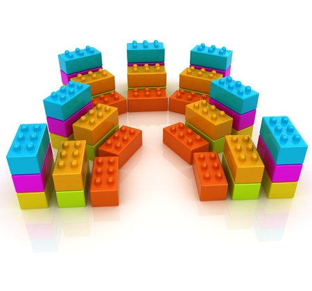 Building blocks on white  photo