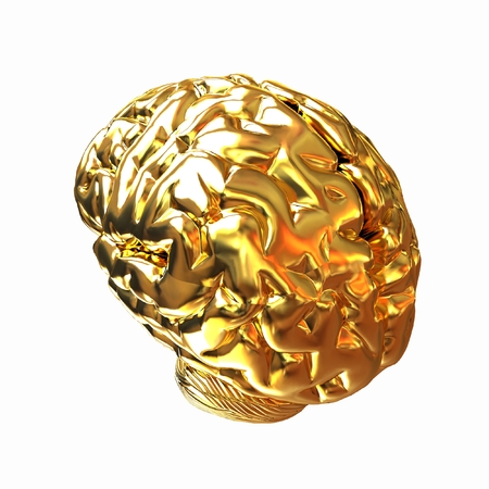 Gold human brain photo