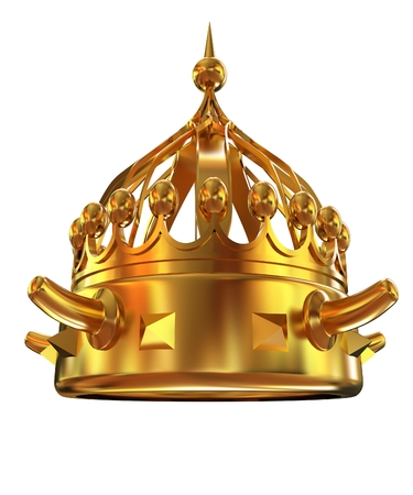 Gold crown isolated on white background  Stock Photo