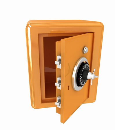 Security metal safe with empty space inside  photo