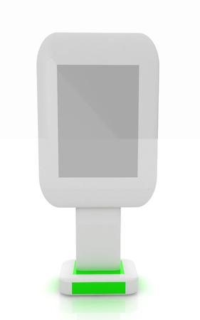 Vertical glossy billboard. 3d illustration on white background
