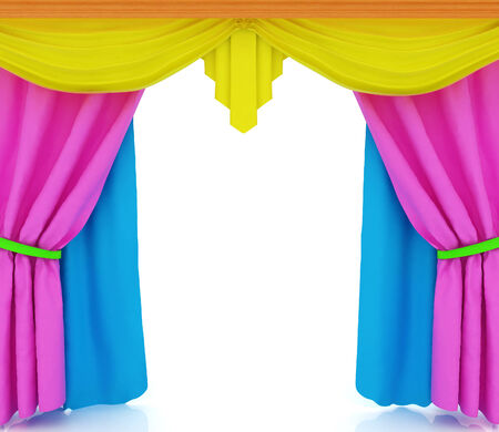 performing arts event: Colorfull curtains Stock Photo