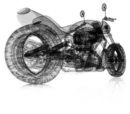 3d sport bike background Reklamní fotografie