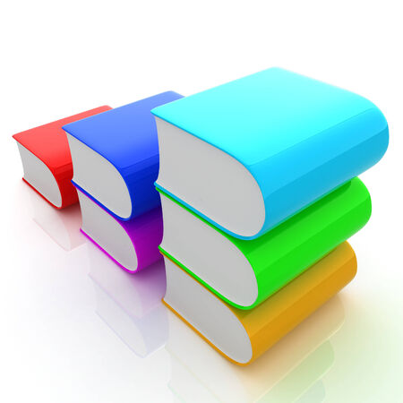 literary: Glossy Books Icon isolated on a white background