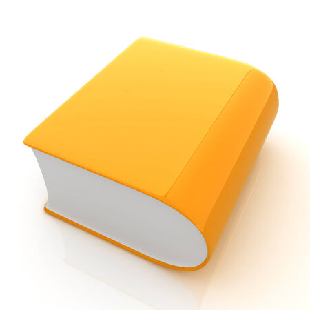 literary: Glossy Book Icon isolated on a white background