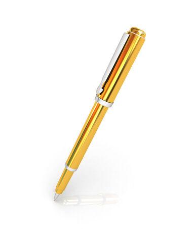 clerical: Gold corporate pen design