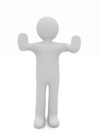weta: 3d man. Ban, veto, warning concept - making stop gesture  Zdjęcie Seryjne