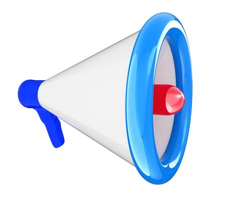 loudhailer: Loudspeaker as announcement icon. Illustration on white  Stock Photo