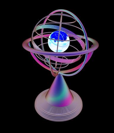 terrestre: Modello di globo terrestre