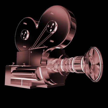 16mm: Old camera. 3d render Stock Photo