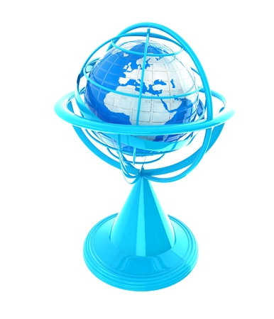 globe  the terrestrial ball: Terrestrial globe model