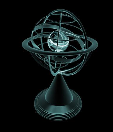terrestrial globe: Terrestrial globe model