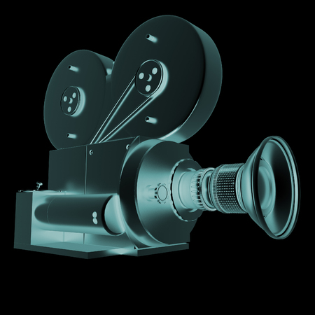 35mm film motion picture camera: Old camera. 3d render Stock Photo