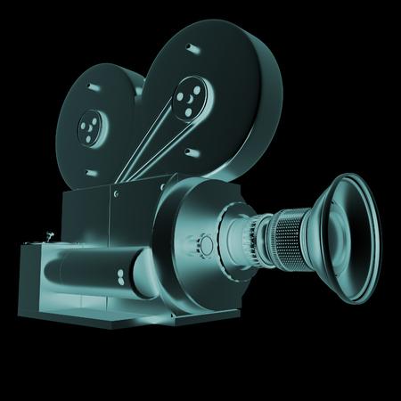 camera lens: Old camera. 3d render Stock Photo