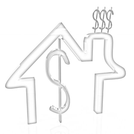 Household Expenditure icon. Pencil drawing  photo