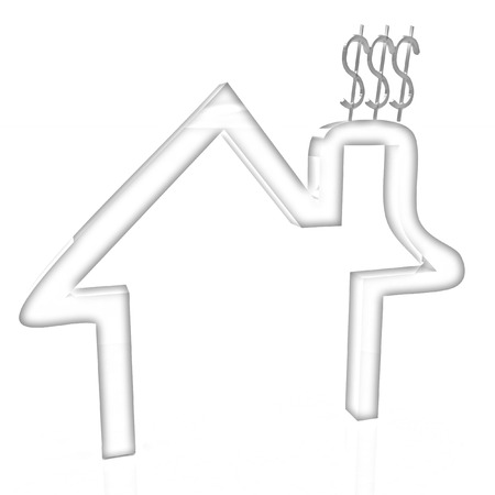 expenditure: Household Expenditure icon. Pencil drawing  Stock Photo