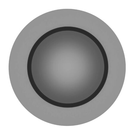 Button isolated on a white background photo