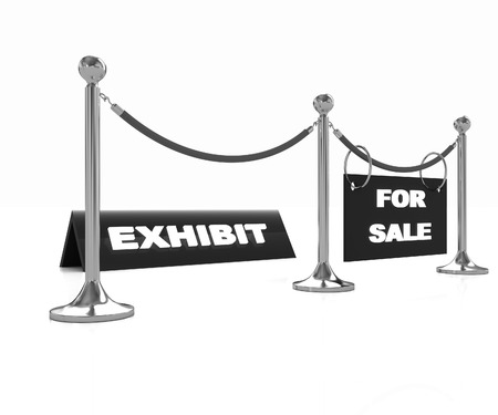 Exhibition on a white background photo