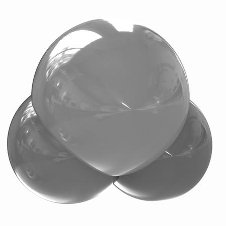 molecula de agua: Ilustraci�n 3D de una mol�cula de agua aislado en el fondo blanco
