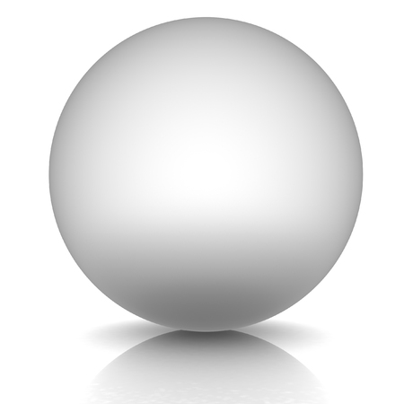 chrome base: Sfera metallica su uno sfondo bianco Archivio Fotografico