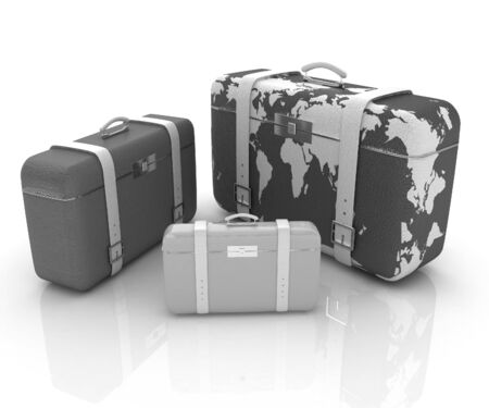 suitcases for travel  photo