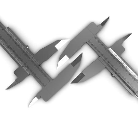 vernier caliper: Calipers on a white background