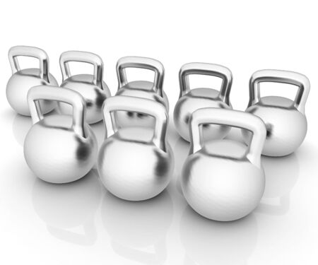 metall: Metall weights on a white background