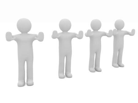 veto: 3d mans. Ban, veto, warning concept - making stop gesture