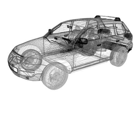Model cars. 3d render