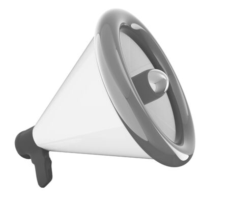 announcement icon: Loudspeaker as announcement icon. Illustration on white  Stock Photo