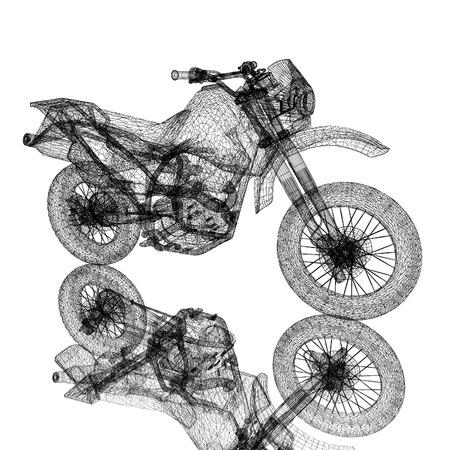 3d sport motocross bike Reklamní fotografie