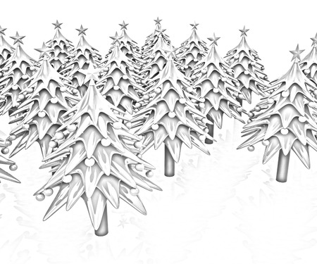 Christmas trees on a white background photo