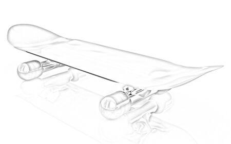 skateboard park: Skateboard on a white background Stock Photo