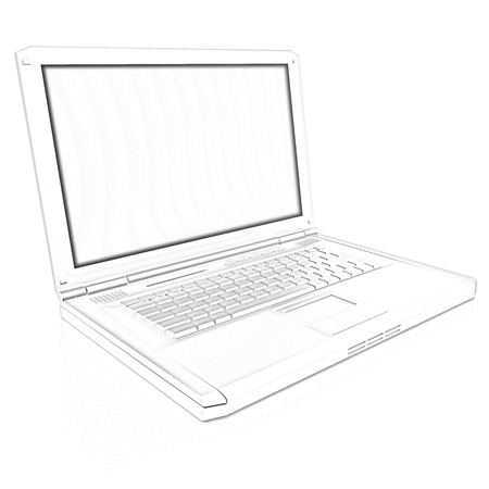 powerbook: Laptop Computer PC on a white background Stock Photo