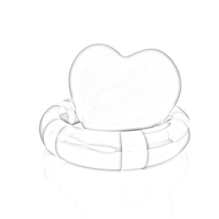 life belt: Heart and life belt. Concept of life-saving