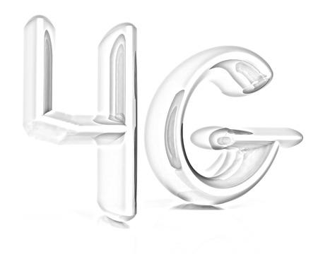 4g: 4g internet network. 3d text