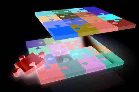 removable: Many-colored puzzle pattern (removable pieces).