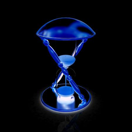 sand clock: Clessidra trasparente isolato su sfondo bianco. Sand orologio icona 3d.