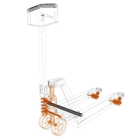 sacktruck: 3d model pallet jack