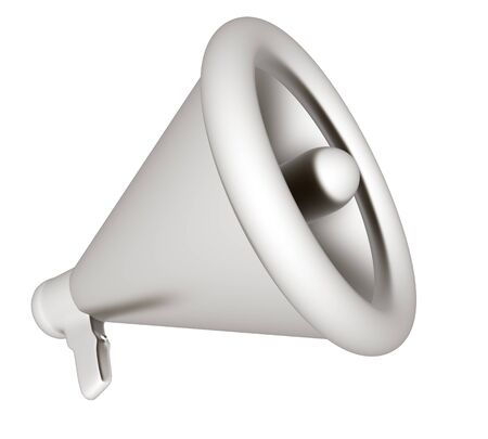 loudhailer: Loudspeaker as announcement icon. Illustration on white