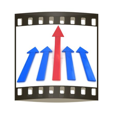 Onwards & Upwards Arrows on a white background. The film strip